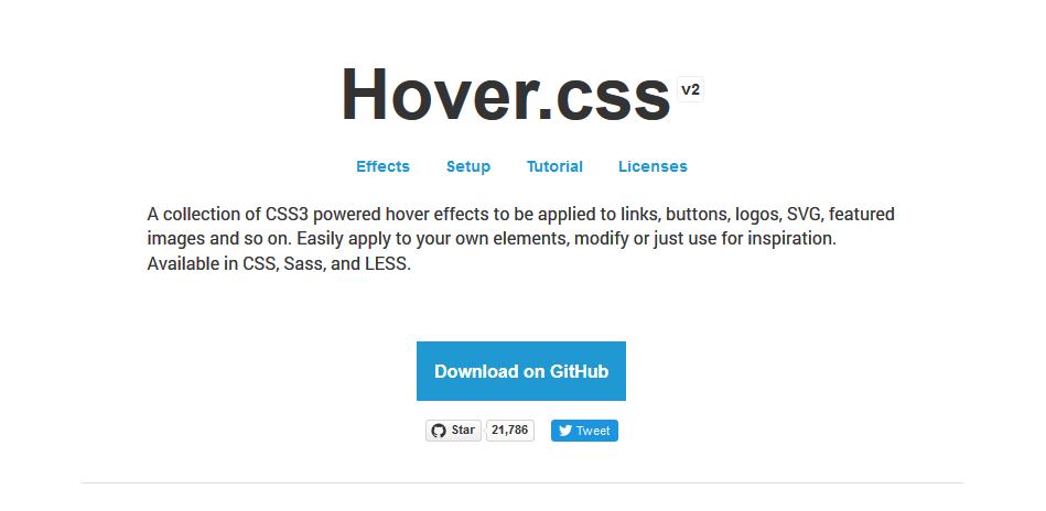 多数のマウスホバーエフェクトが使えるcssライブラリ「Hover.css」の使い方